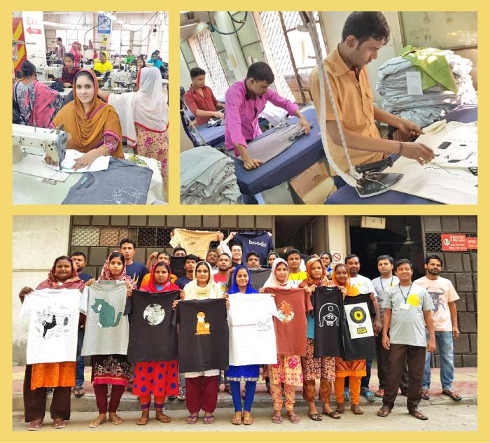 バングラディッシュのTシャツ工場